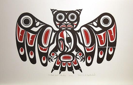 Эскиз татуировки сова