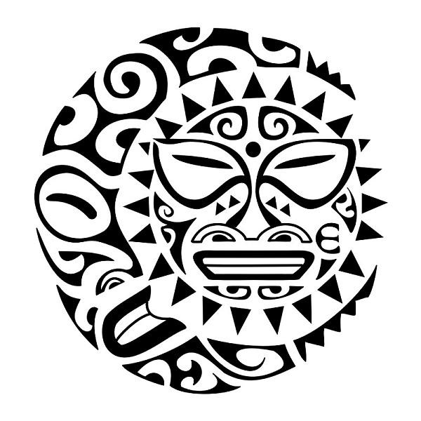 Maori Sun and Moon Tattoo