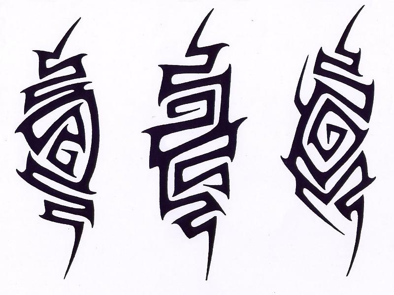 татуировки трайбл эскизы: